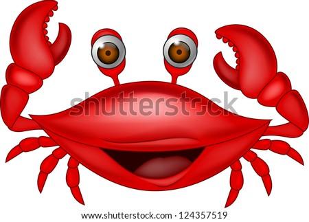Happy crab - stock vector