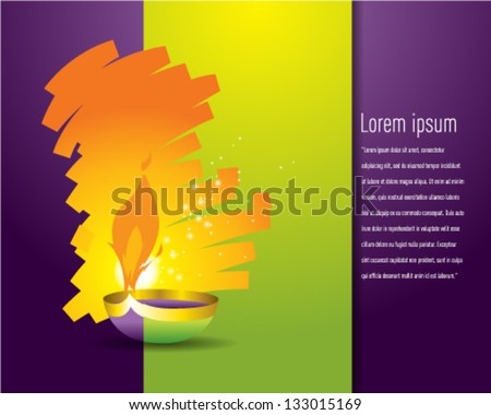 Happy Diwali and Aidilfitri - stock vector