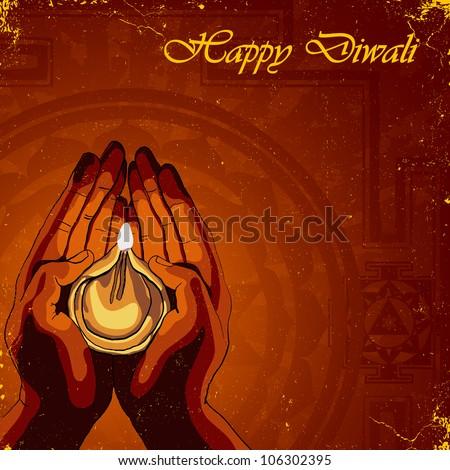 Happy Diwali background - stock vector