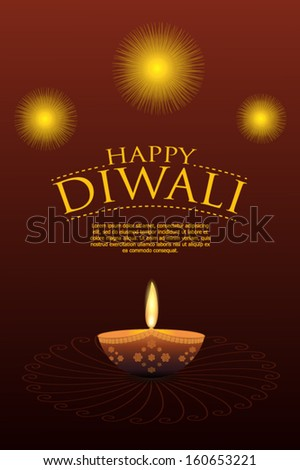 Happy diwali greeting card stock vector hd royalty free 160653221 happy diwali greeting card m4hsunfo