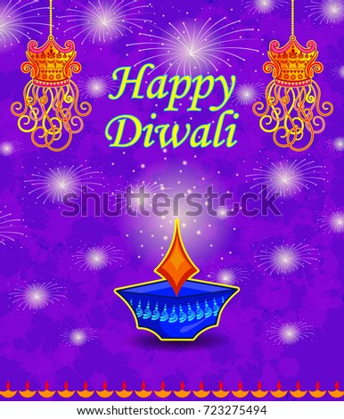 Happy diwali light festival india greeting stock vector royalty happy diwali light festival of india greeting advertisement sale banner with happy diwali wishes in hindi m4hsunfo