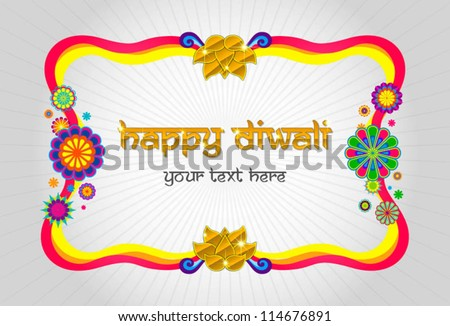 happy diwali modern frame - stock vector
