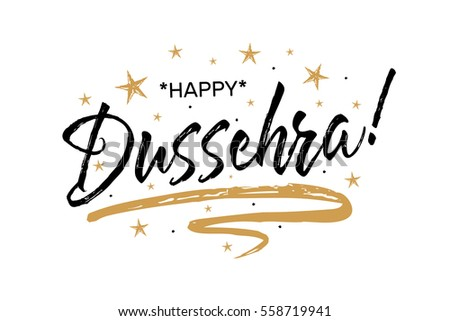 Happy dussehra festival beautiful greeting card scratched stock happy dussehra festivalautiful greeting card scratched calligraphy black text word gold starshand m4hsunfo