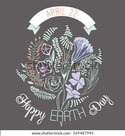 Happy Earth Day - stock vector