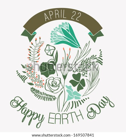 Happy Earth Day - stock vector