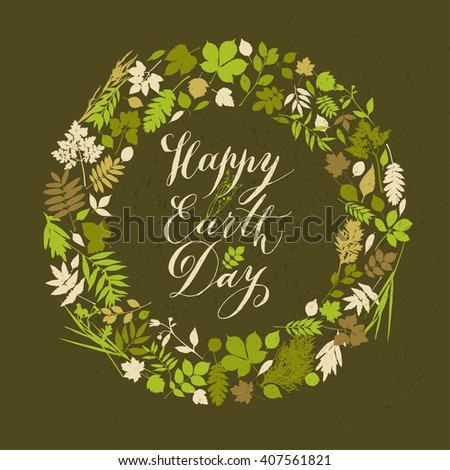 Happy earth day background - stock vector