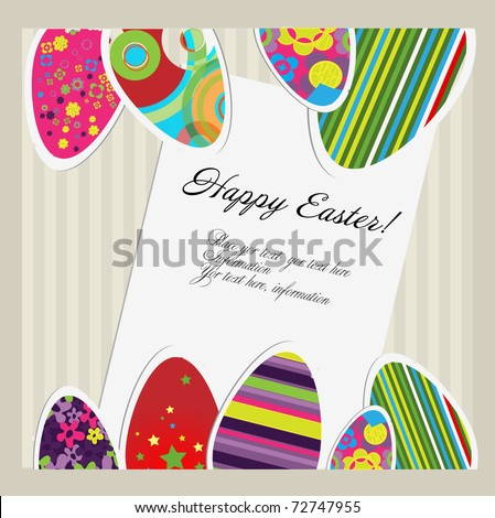 Happy Easter! - stock vector