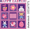 Happy Easter! A set of vector images on the theme of Easter - stock vector