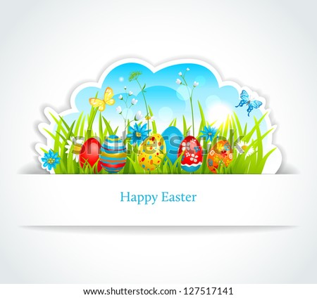 Happy Easter background - stock vector