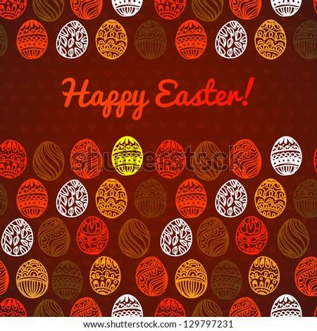 Happy easter background. easter egg. Easter egg vector pattern for your  design - stock vector