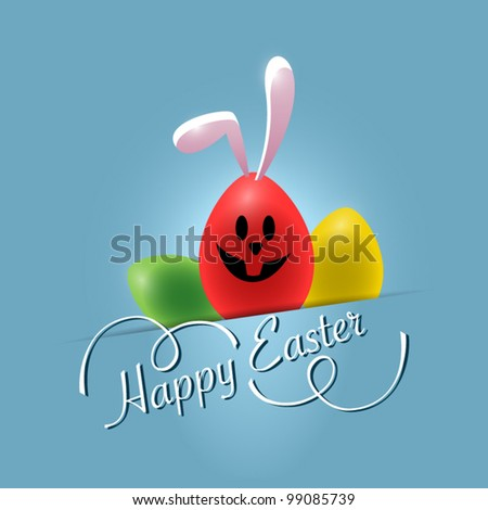 Happy Easter Background. Vector illustration - stock vector