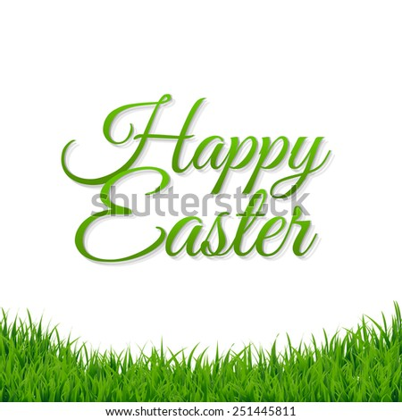Happy Easter Banner With Gradient Mesh, Vector Illustration - stock vector