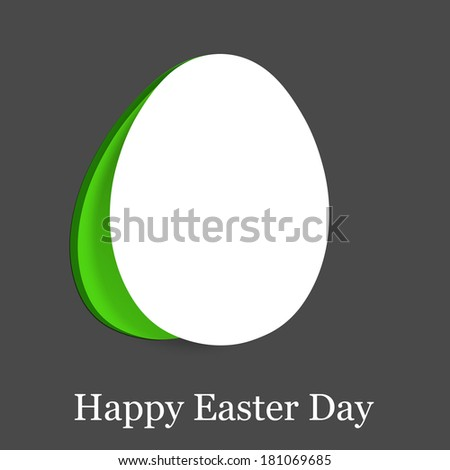 Happy Easter Card on dark grey background.