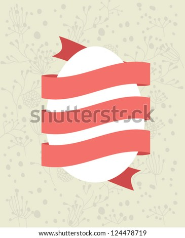 Happy Easter Card. Vector element - stock vector
