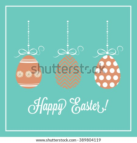Happy Easter Card with Easter Eggs
