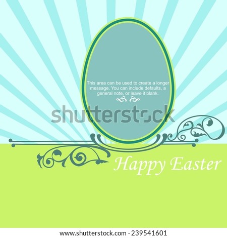 Happy Easter cards illustration with Easter egg - stock vector