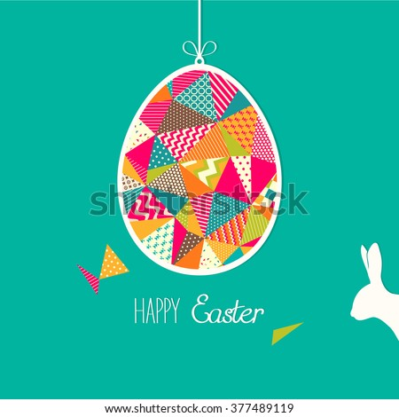 Happy Easter! Colorful easter background - stock vector