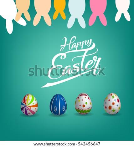Happy Easter Day Stock Vector 542456647 - Shutterstock