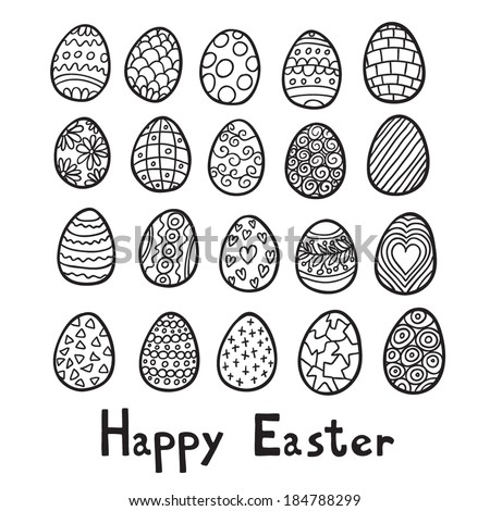 Happy Easter eggs background - stock vector