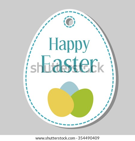 Easter tags stock images royalty free images vectors shutterstock happy easter gift tag negle Gallery