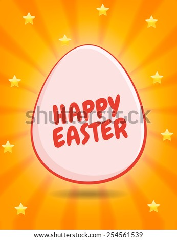 Happy Easter Greeting - stock vector