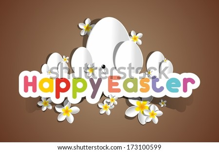 Happy Easter Greeting Card on Background vector illustration - stock vector
