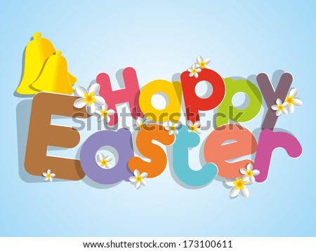 Happy Easter Greeting Card on Background vector illustration