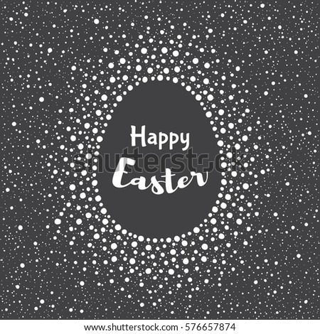 Happy Easter Greeting Card Template Splash Stock Vector