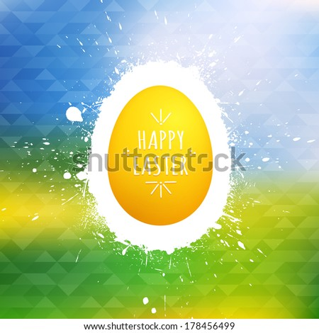 Happy Easter greeting card. Vector Happy Easter background. Vector illustration. Abstract art. Egg background. Retro background - stock vector