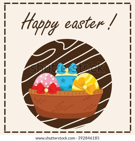 Happy easter illustration for greeting card - stock vector
