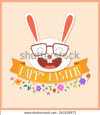 Happy Easter illustration. Vector greeting card design - stock vector