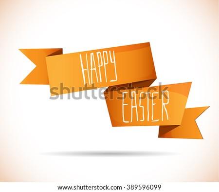 Happy Easter ribbon - stock vector