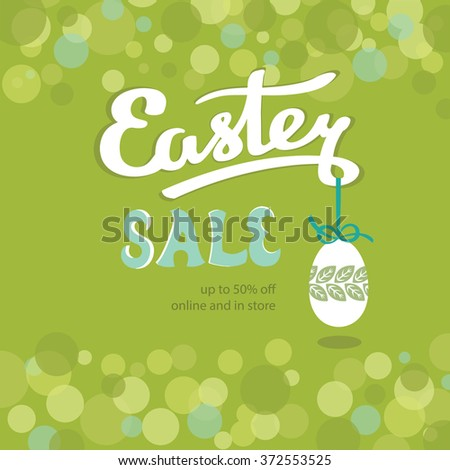 Happy Easter Sale banner. Vector illustration