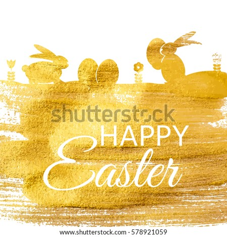 Happy Easter Spring Holiday Background Illustration EPS10