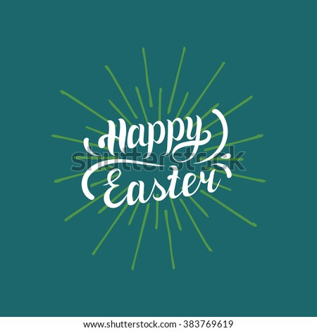 Happy Easter type greeting card. Vector illustration - stock vector