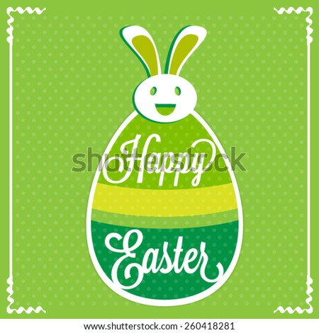 Happy Easter. Typographical Background - stock vector