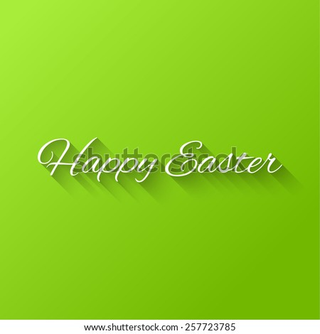Happy Easter Typographical Background on a green gradient background - stock vector