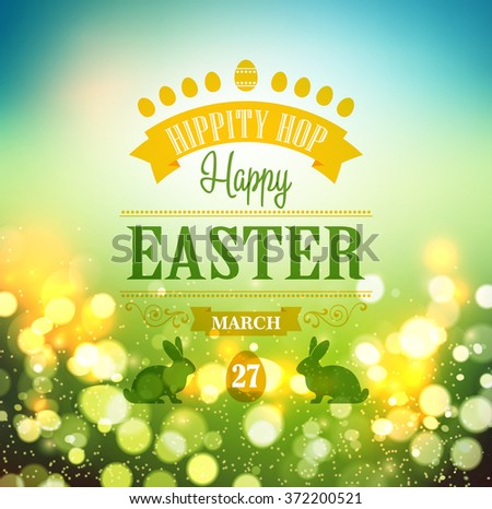 Happy Easter Typographical Background. Vector illustration. Easter poster - stock vector
