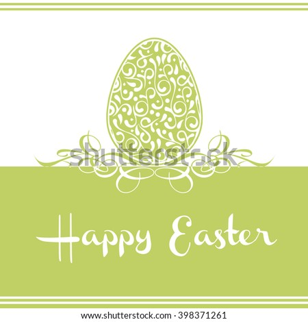 Happy Easter vector card. Vector illustration