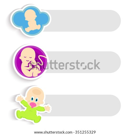 Happy event. Pregnancy. Planning for baby. Baby calendar. Vector illustration. Logo. Pregnancy logo. Pregnancy icon. Pregnancy sign. Pregnancy symbol. Pregnancy web template. Baby background template  - stock vector