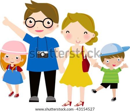 Happy Family 2 - stock vector