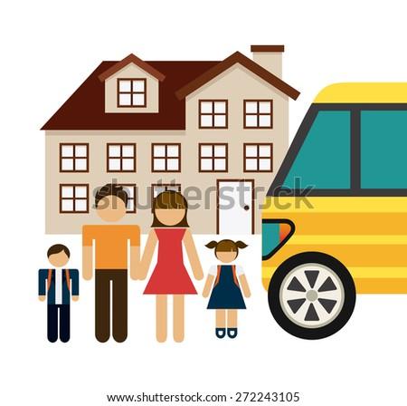 happy family design, vector illustration eps10 graphic  - stock vector