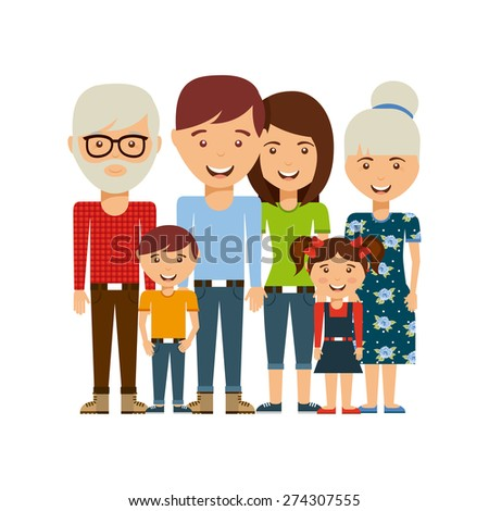 happy family design, vector illustration eps10 graphic  - stock vector