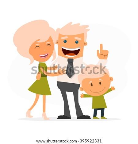 Happy family. Vector illustration - stock vector