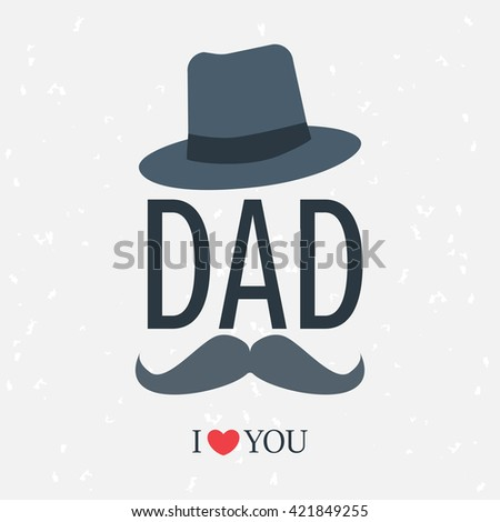 happy father day. love dad background, greeting card, grunge texture design. can be add text. - stock vector