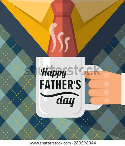 stock vector happy father s day a coffee cup congratulation best dad postcard 280596044