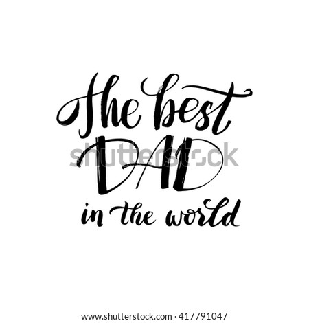 Happy Fathers Day Black Greeting Card Stock Vector 417791047 ...