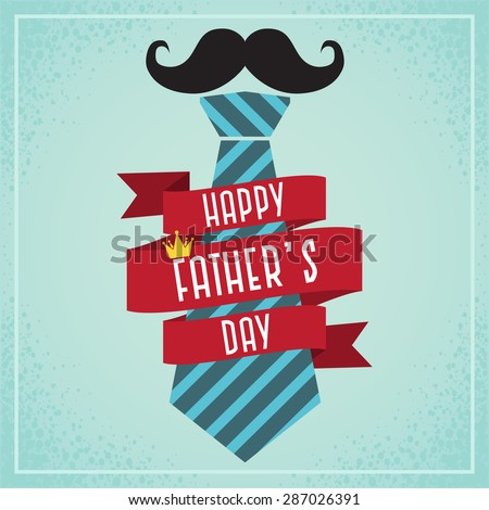 Happy Father's Day Card- Ribbons and tie