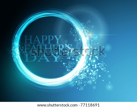 Happy Father's Day greeting - stock vector