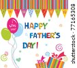 happy father's day greeting card - stock photo